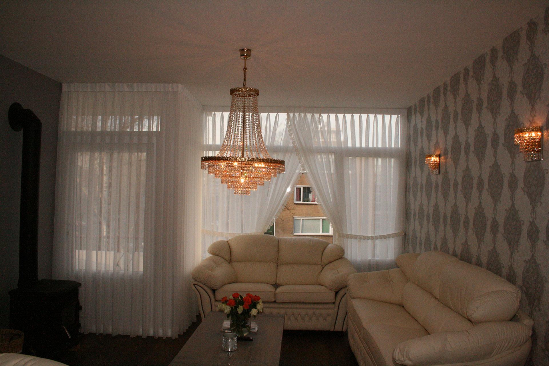 Vitrages wesley 39 s deco interieurstoffen - Deco kamer onder dekking ...